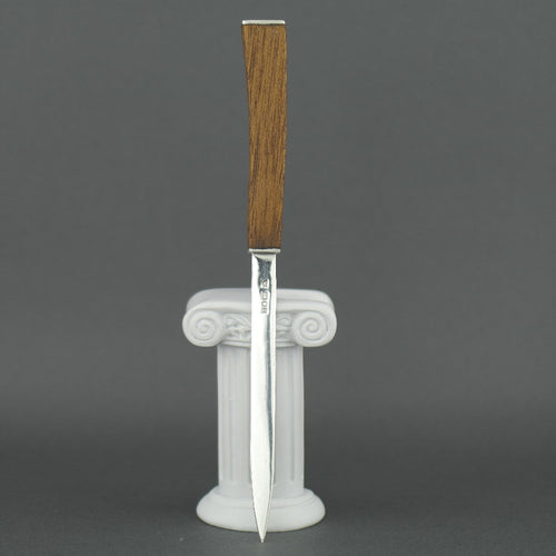 Elegant sterling silver letter opener with solid wood handle maked DIM made in London GCK