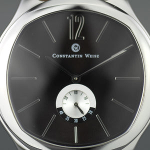 Constantin Weisz Limited Edition Classic Mechanical wrist watch with black Sun brushed dial
