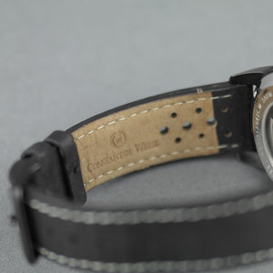 Constantin Weisz MIlitary style Automatic wrist watch with date and leather strap