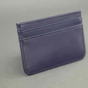 Crooks & Castles Los Angeles Bronson Navy Leather Card Holder