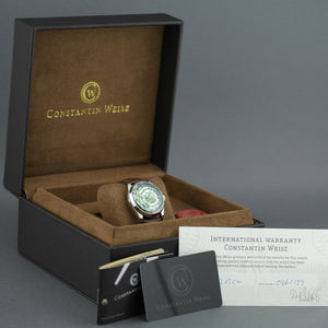 Constantin Weisz Limited Edition Automatic wristwatch 21 jewels open heart leather strap