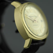 Load image into Gallery viewer, Moscow Time Gent's gold plated Automatic wrist watch with black Crocodile leather strap