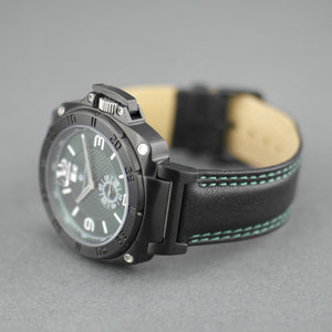 Constantin Weisz 20 jewels Gent's Automatic wrist watch British Rase green dial and leather strap