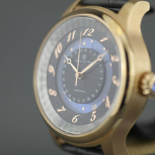 Load image into Gallery viewer, Constantin Weisz 35 Jewels Gent's gold plated Automatic wrist watch Moving Sun blue enamel