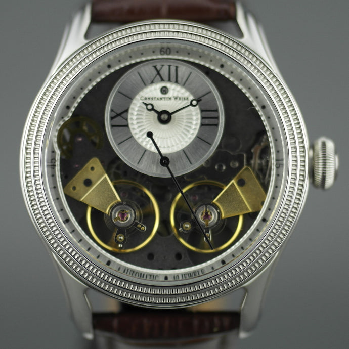 Constantin Weisz 40 jewels Gent's Automatic dual balance wheel wrist watch and leather strap