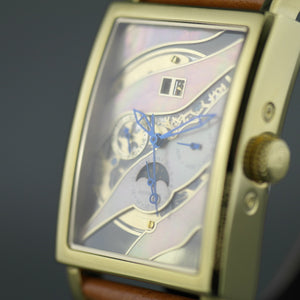 Constantin Weisz Gent's Automatic gold plated wrist watch with Nacre dial