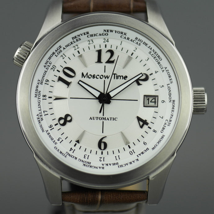Moscow Time a world timer 27 jewels Gent's Automatic wrist watch