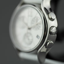 Load image into Gallery viewer, Calvin Klein Small Chronograph wristwatch with white leather strap