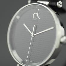 Load image into Gallery viewer, Calvin Klein Sight Quartz Black Dial Swiss wrist watch with leather strap