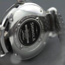 Load image into Gallery viewer, Shinola The Canfield wrist watch with sandy dunes of Michigan's grey dial