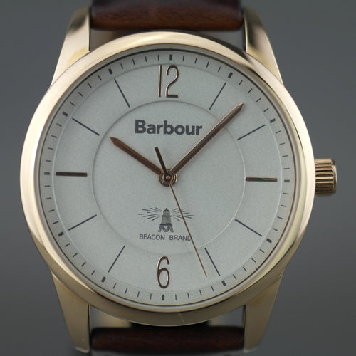 Barbour Mortimer a special gold plated Gents watch with leather strap