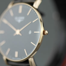 Load image into Gallery viewer, Zelos The flat gold plated elegant quartz watch from ELYSEE with date