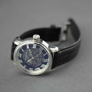 Thomas Earnshaw Longitude Alta Skeleton Automatic wrist watch leather strap