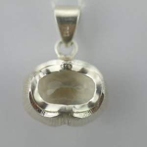 "Stunning Citrine gemstone pendant with sterling silver chain from ""Pomegranate"""