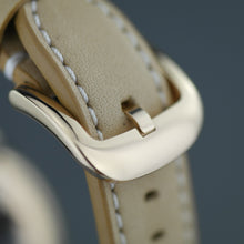 Load image into Gallery viewer, Shinola The Runwell wristwatch with silver dial and natural leather strap