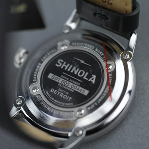 Shinola The Runwell wrist watch with Black Dial and Leather strap