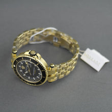 Load image into Gallery viewer, Versace V-Race black dial diver gold plated wristwatch