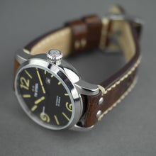 Load image into Gallery viewer, TW Steel Automatic Casual Men's wrist watch with brown leather strap
