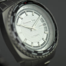 Load image into Gallery viewer, Moscow Time a world timer Gent's Automatic wrist watch with bracelet