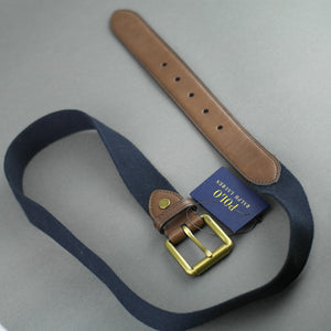 Polo Ralph Lauren Men's Webbed Roller Buckle Belt