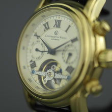 Load image into Gallery viewer, Constantin Weisz Gents Automatic Tachymeter gold plated wrist watch