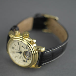 Constantin Weisz Gents Automatic Tachymeter gold plated wrist watch