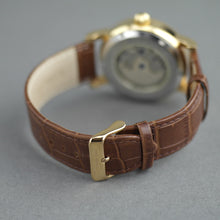 Load image into Gallery viewer, Constantin Weisz Open heart automatic wrist watch gold tone bronze dial