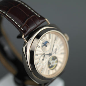 Constantin Weisz automatic open heart wrist watch with leather strap