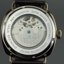 Load image into Gallery viewer, Constantin Weisz automatic open heart wrist watch with leather strap