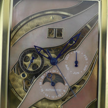 Load image into Gallery viewer, Constantin Weisz Automatic gold plated wrist watch Skeleton Nacre dial