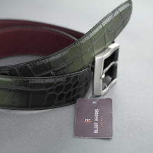 Load image into Gallery viewer, Elliot Rhodes Gents Casual full grain leather belt a Mock Caiman effect