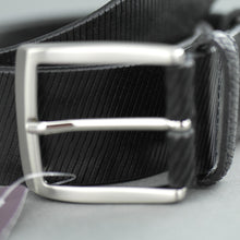 Load image into Gallery viewer, Elliot Rhodes Gents Casual black laser cut full grain leather belt