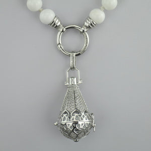 Engelsrufer 80cm Shell Pearl Necklace with sterling silver Ring and Pendant