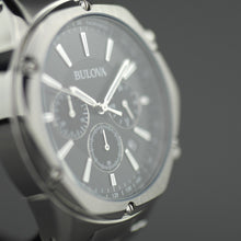 Load image into Gallery viewer, Bulova Men's Chronograph watch Black dial Stainless steel bracelet
