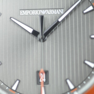 Emporio Armani Sigma Luigi Gunmetal Grey Steel 44 mm Men's Watch