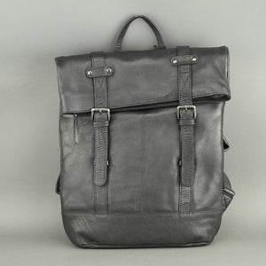 Vilenca Holland Black Genuine Leather Business Backpack bag