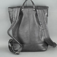 Load image into Gallery viewer, Vilenca Holland Black Genuine Leather Business Backpack bag