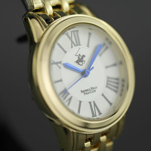Beverly Hills Polo Club gold plated classic wrist watch with Roman numerals