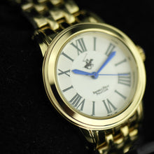 Load image into Gallery viewer, Beverly Hills Polo Club gold plated classic wrist watch with Roman numerals