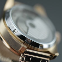 Load image into Gallery viewer, Constantin Weisz Automatic Double heart gold plated wrist watch with bracelet