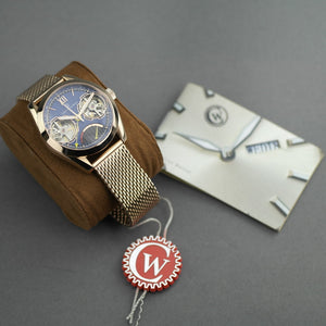 Constantin Weisz Automatic Double heart gold plated wrist watch with bracelet