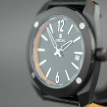 Load image into Gallery viewer, DWISS Limited Edition Swiss quartz black dial wristwatch with strap