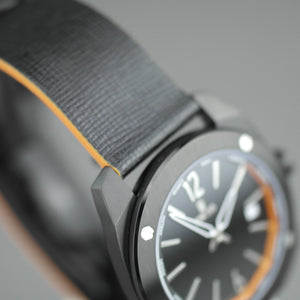 DWISS Limited Edition Swiss quartz black dial wristwatch with strap