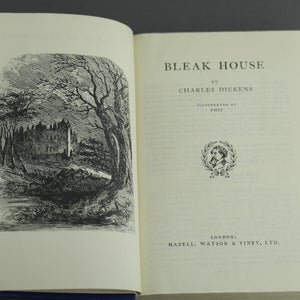 "Special Edition Antique 1885 book by Charles Dickens ""Bleak House"" London"