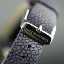 Load image into Gallery viewer, Constantin Weisz Purple Love Automatic nacre dial wrist watch with encrusted bezel