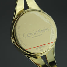 Load image into Gallery viewer, Calvin Klein Addict Black Dial Gold plated Bangle Ladies Watch