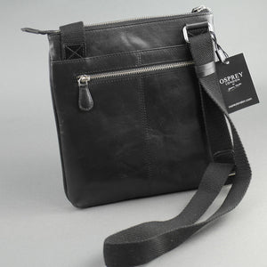 Osprey London Matthew X-Body glazed Calf leather cross bag