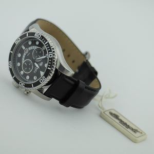 Chronograph quartz Ingersoll Hartford II wrist watch black leather strap