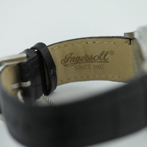 Ingersoll Bloomsbury wrist watch black leather strap