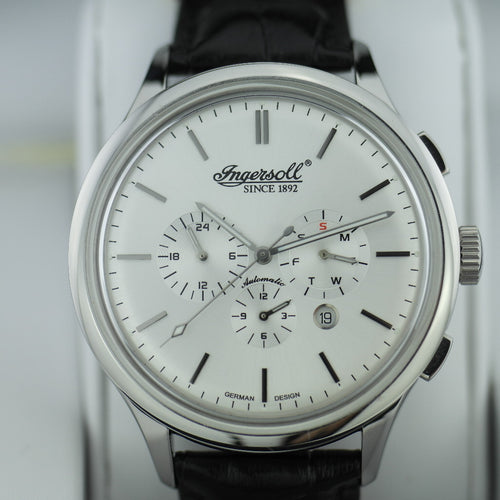 Limited Edition Ingersoll Mackinac Automatic watch day week month leather strap